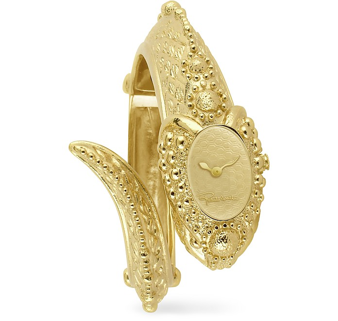 Eva Snake Gold Plated Cuff Watch - Roberto Cavalli