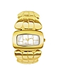 Coco - Gold Plated Croco-style Bracelet Dress Watch - Roberto Cavalli