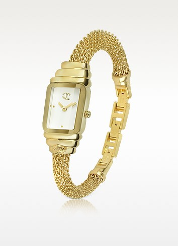 Eshmay - Gold Plated Mesh Bracelet Watch - Just Cavalli