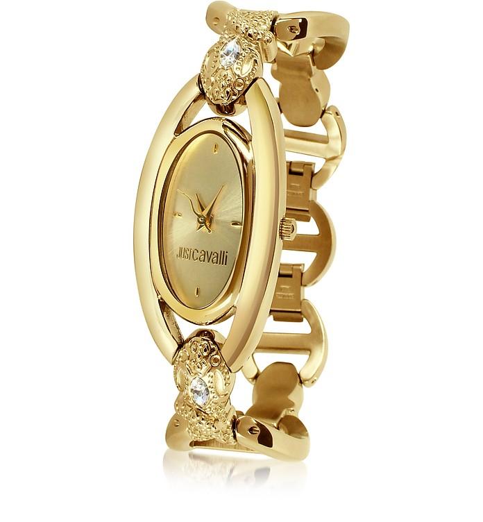 Aeliptika - Gold Plated Bracelet Dress Watch - Just Cavalli