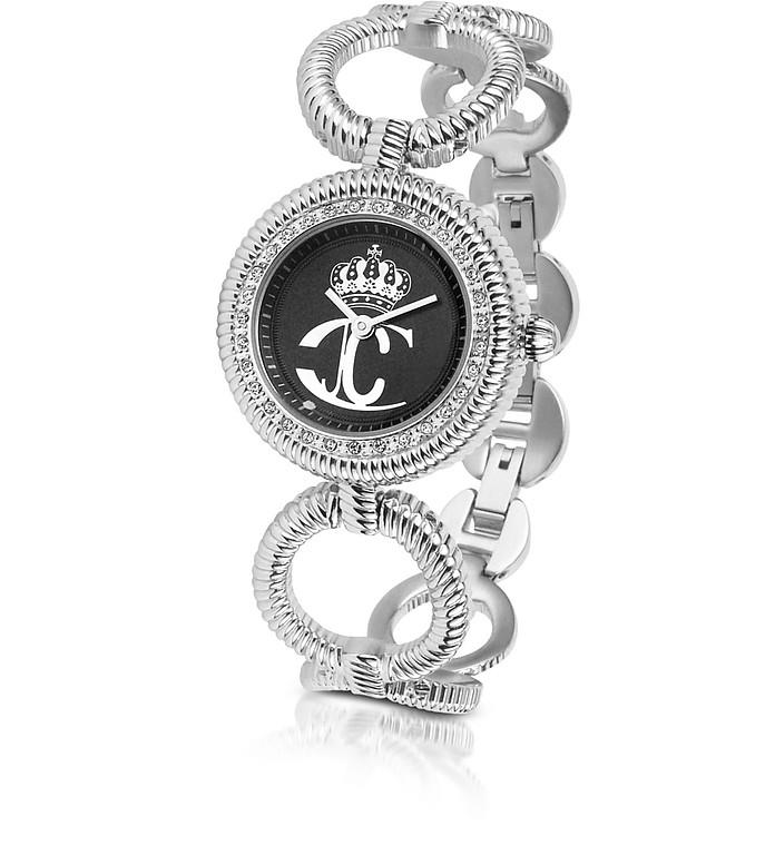 JC Stud - Crystal Framed Logo Dial Bracelet Watch - Just Cavalli