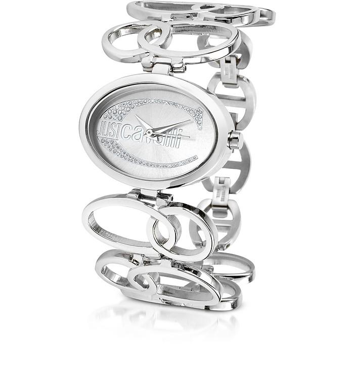 JC Silla - Oval Logo Bracelet Watch - Just Cavalli