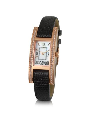 Just Cavalli Style - Black Crystal Frame Dress Watch