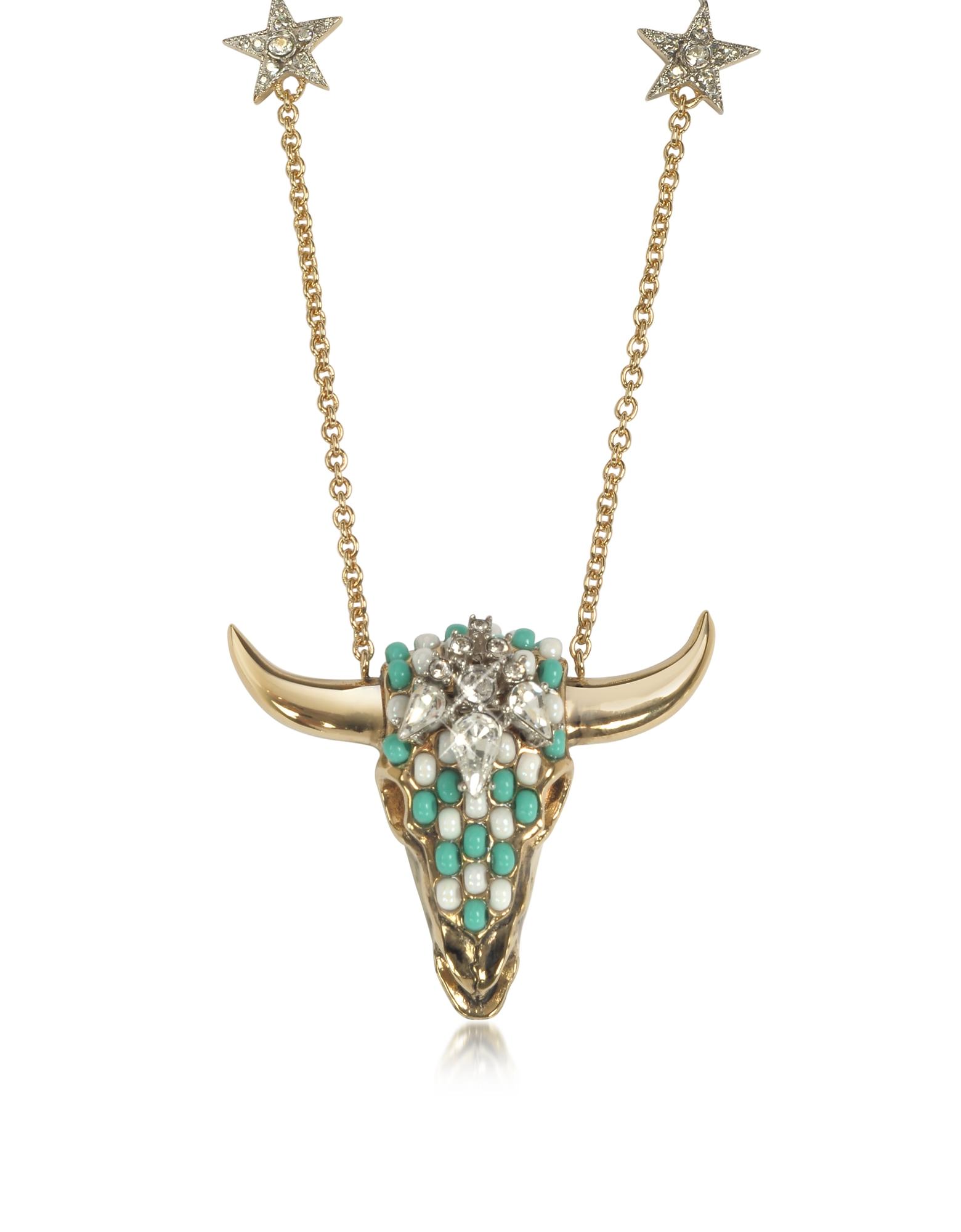 Фото Длинное Золотистое Ожерелье из Меди с Кристаллами и Бусинками Оттенка Зеленой Мяты. Купить с доставкой