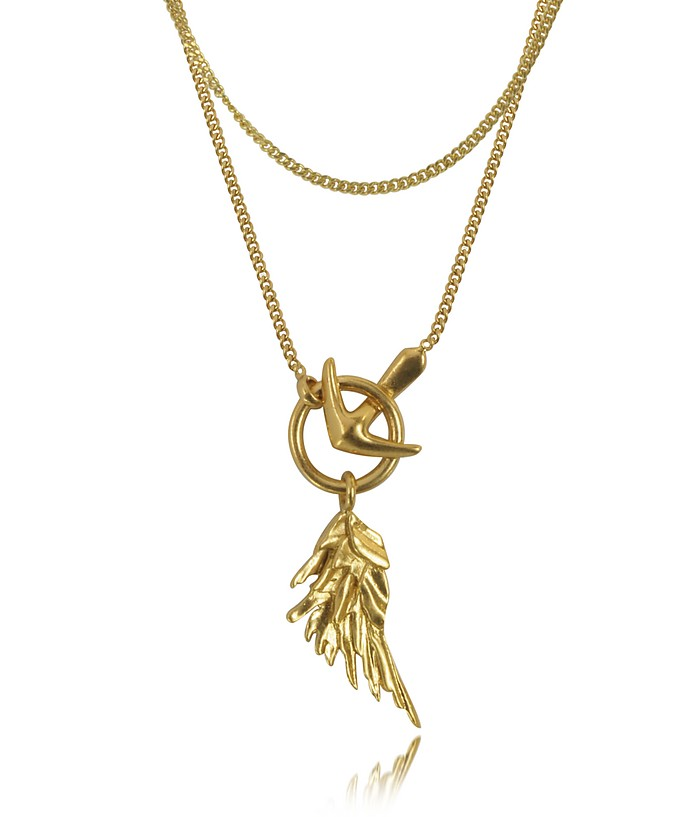Wing Antique Gold Necklace - Roberto Cavalli