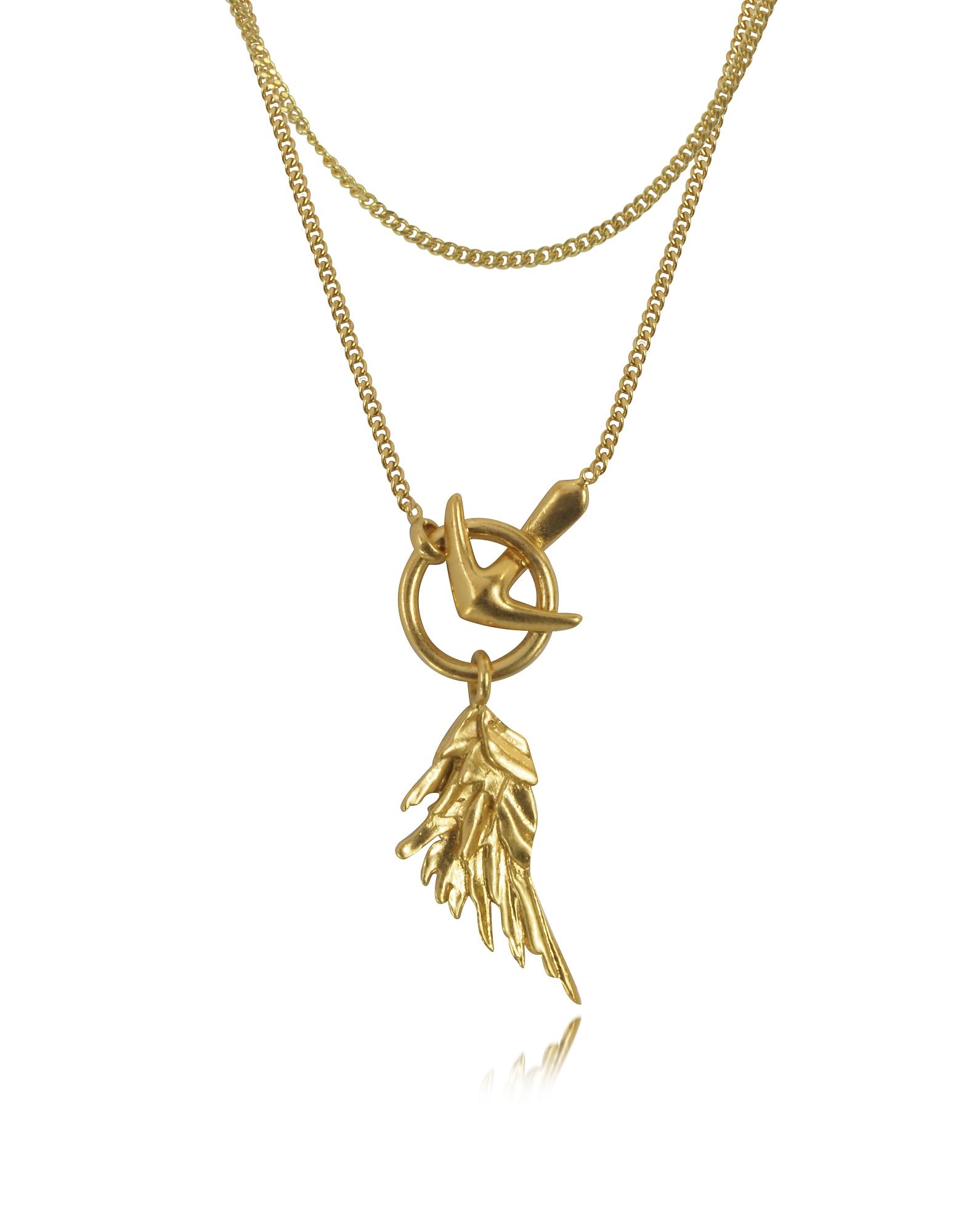 Wing - Ожерелье Оттенка Античного Золота