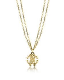 RC Icon Metal Necklace w/Double Chain - Roberto Cavalli