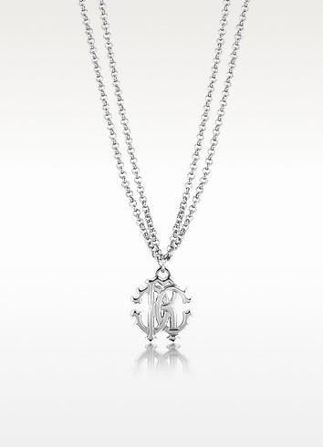 RC Icon Metal Necklace w/Double Chain - Roberto Cavalli