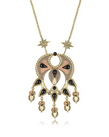 Gold-tone and Enamel w/Multicolor Crystals Long Necklace - Roberto Cavalli