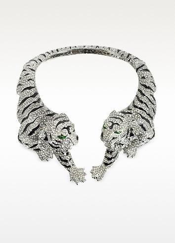 Tiger Necklace w/Crystals - Roberto Cavalli