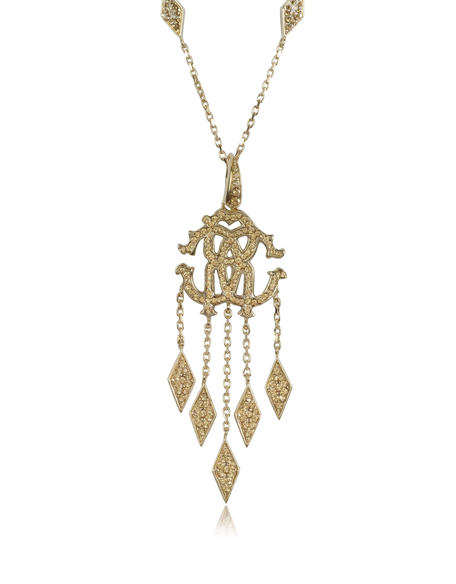 Roberto Cavalli RC Luxe - Ожерелье с Подвеской из Металла с Кристаллами