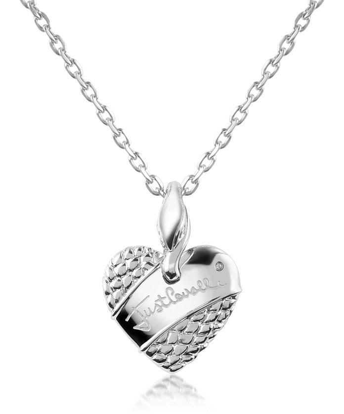 Heart - Signature Chain Necklace - Just Cavalli