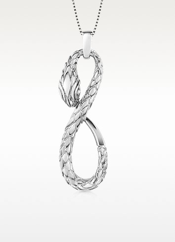 Groumette - Snake Pendant Necklace - Just Cavalli