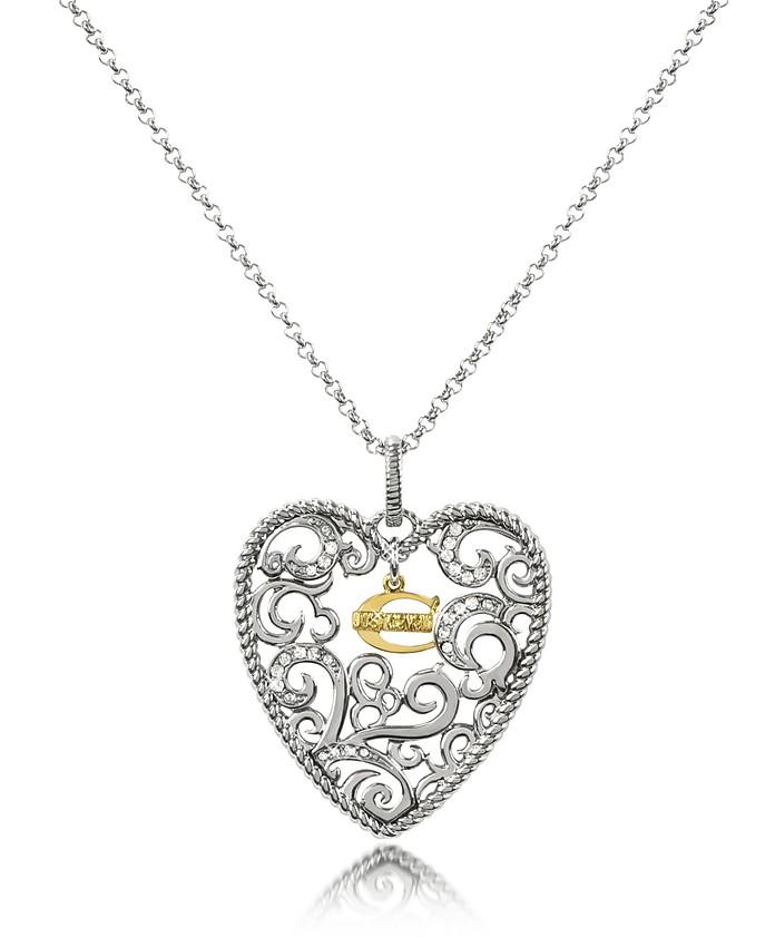 Deco' - Small Heart Pendant Necklace - Just Cavalli