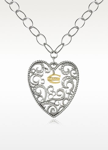 Deco' - Big Heart Pendant Chain Necklace - Just Cavalli
