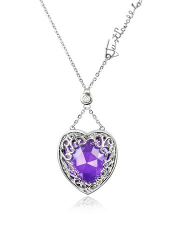 Amethyst necklace heart