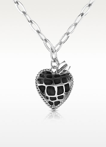 Safari - Heart Pendant Chain Necklace - Just Cavalli