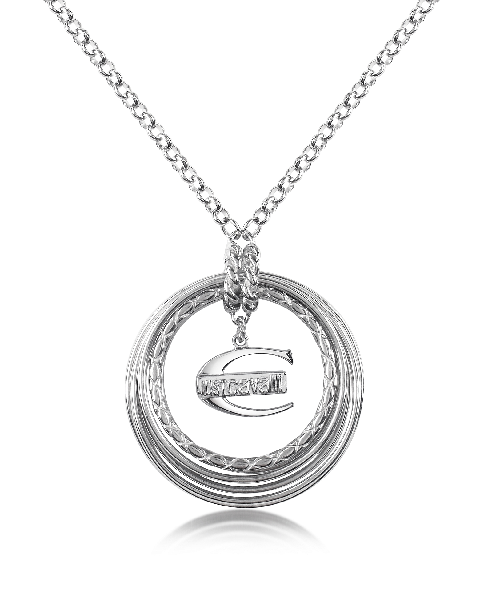 Just Cavalli Necklaces, Infinity - Logo Pendant Chain Necklace