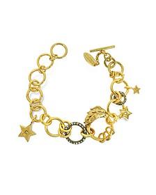 Lion Golden Metal Bracelet w/Crystals - Roberto Cavalli