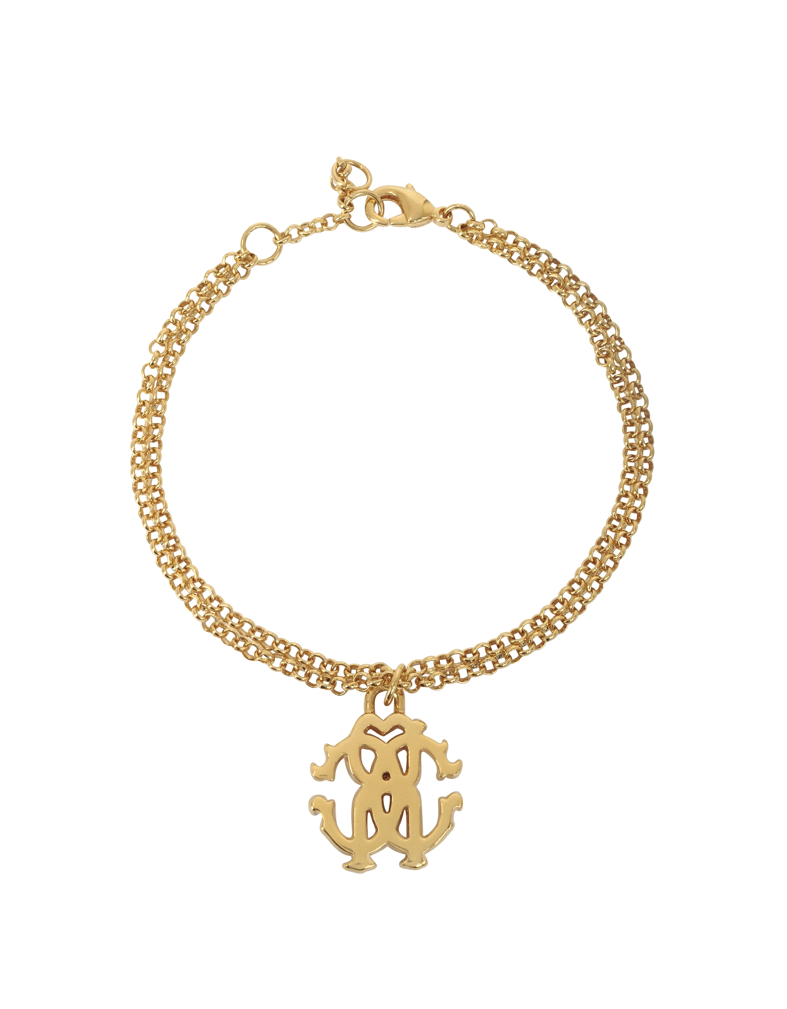 Roberto Cavalli Bracelets, RC Icon Golden Metal Bracelet