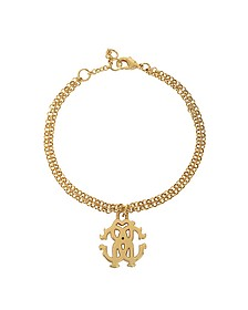 RC Icon Golden Metal Bracelet - Roberto Cavalli