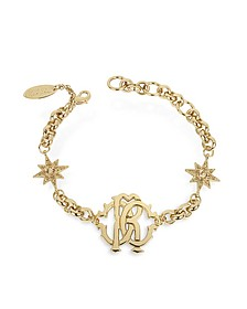 RC Icon Golden Metal Bracelet w/Stars - Roberto Cavalli