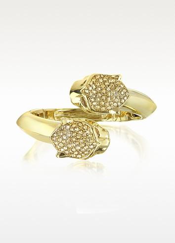 Panther Golden Metal Bracelet w/Crystals - Roberto Cavalli