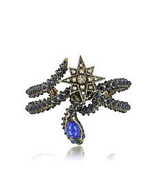 Snake Star Bracelet w/Blue Stone - Roberto Cavalli