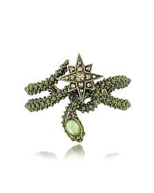 Snake Star Bracelet w/Green Stone - Roberto Cavalli