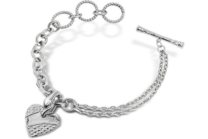 Heart - Charm Chain Bracelet - Just Cavalli