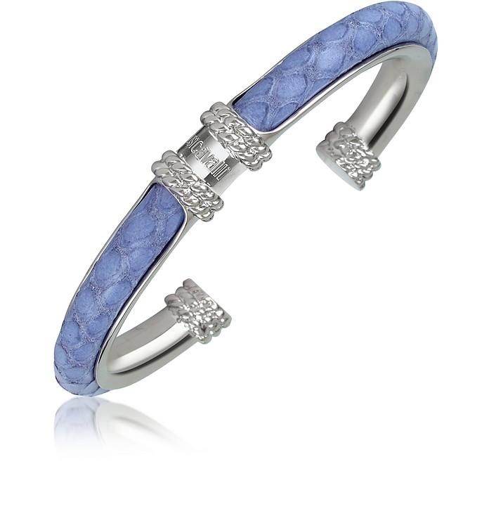 Viper - Reptile Stamped Leather Cuff Bracelet - Just Cavalli