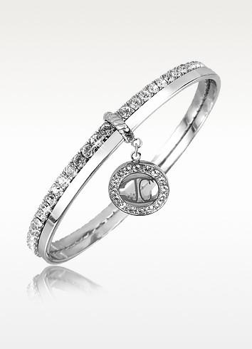 Rolly - Crystal Logo Bangle Bracelet - Just Cavalli