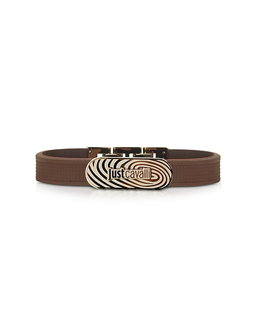 Just Cavalli - Touch Brown Silicon Men's Bracelet