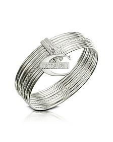Infinity - Logo Charm Stacked Bangle Bracelet - Just Cavalli
