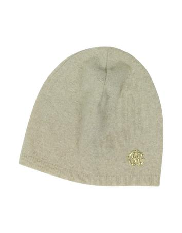 Lux-ID 316993 Golden RC Logo Cashmere Women's Hat