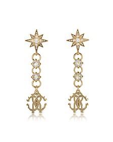 Icon Golden Star Ohrringe mit Kristallen - Roberto Cavalli