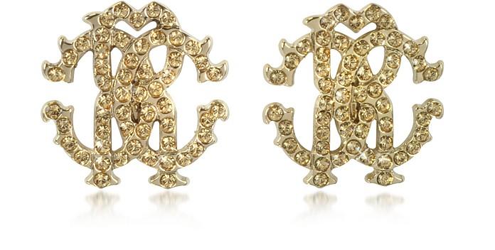 RC Lux Crystals Stud Earrings - Roberto Cavalli