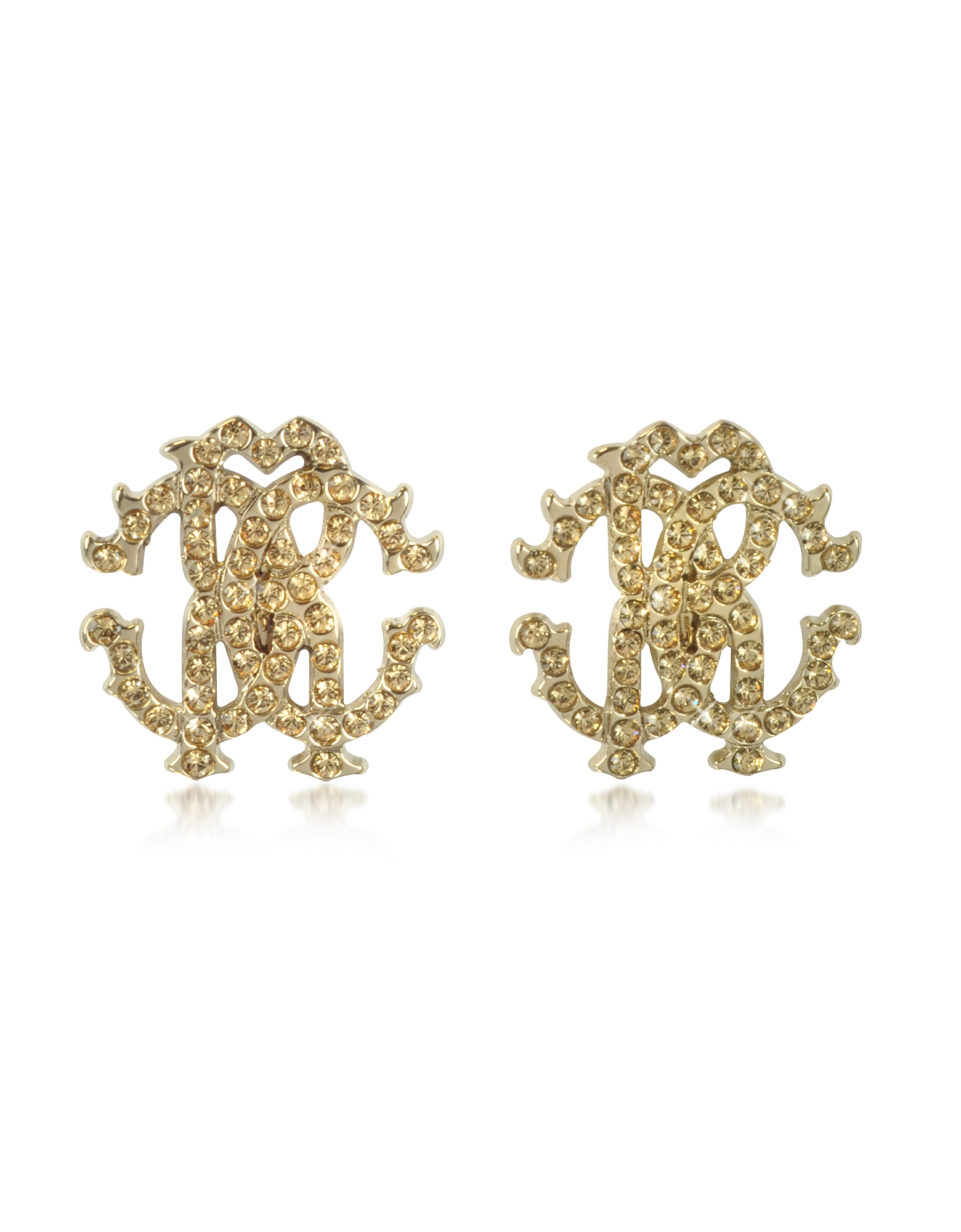 Roberto Cavalli Earrings, RC Lux Crystals Stud Earrings