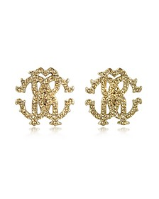 RC Lux Crystals Stud Earrings - Roberto Cavalli