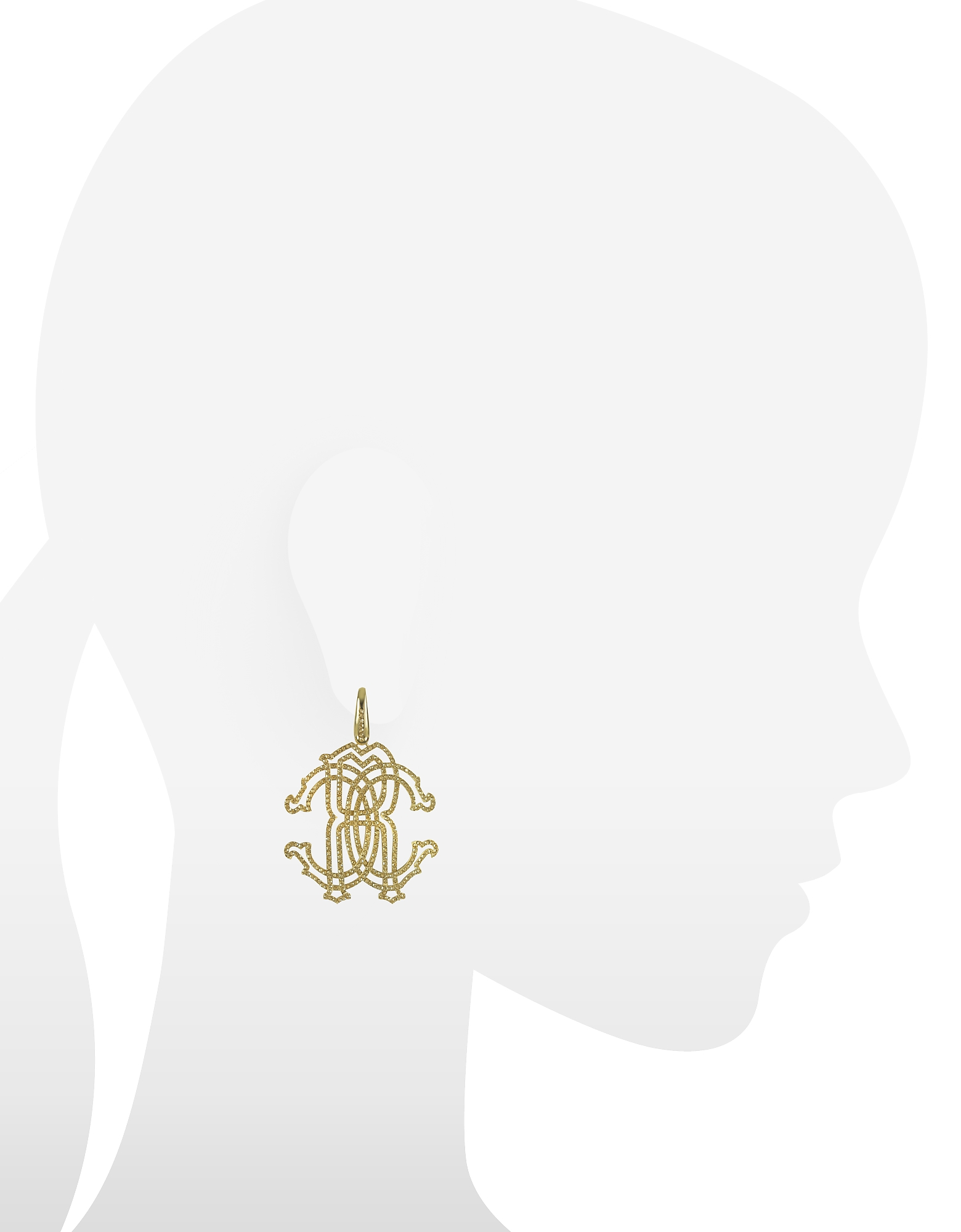 RC Icon Gold Tone Metal Earrings w/Crystals от Forzieri.com INT