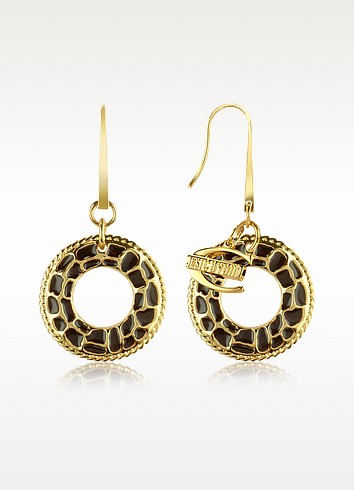 Safari - Round Drop Earrings - Just Cavalli