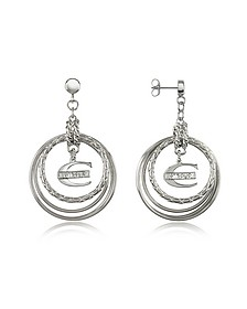 Infinity - Logo Charm Earrings - Just Cavalli