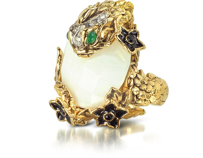 Carp Bouquet W/Moonstone Ring - Roberto Cavalli
