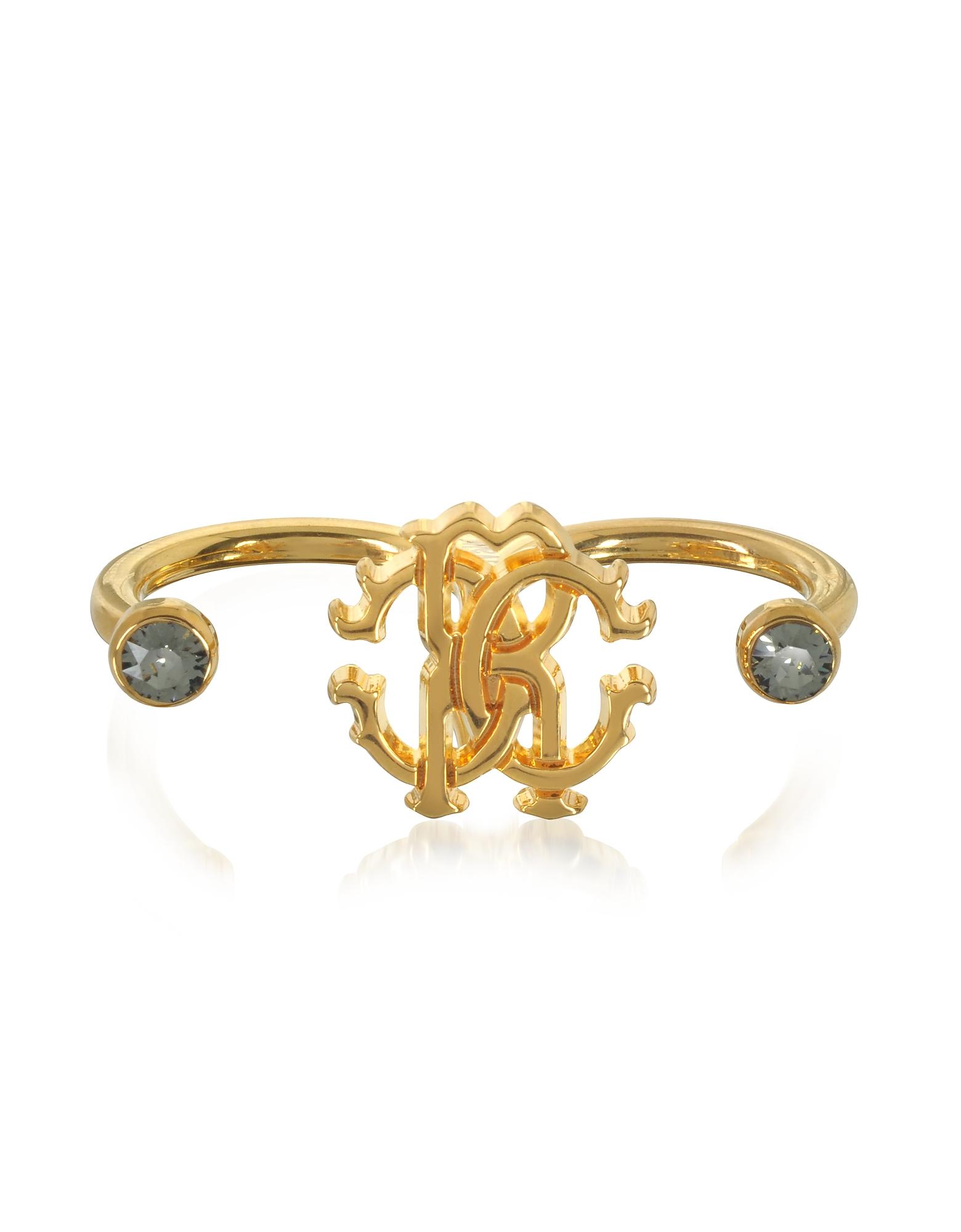 Кольцо на Два Пальца из Золотистого Металла