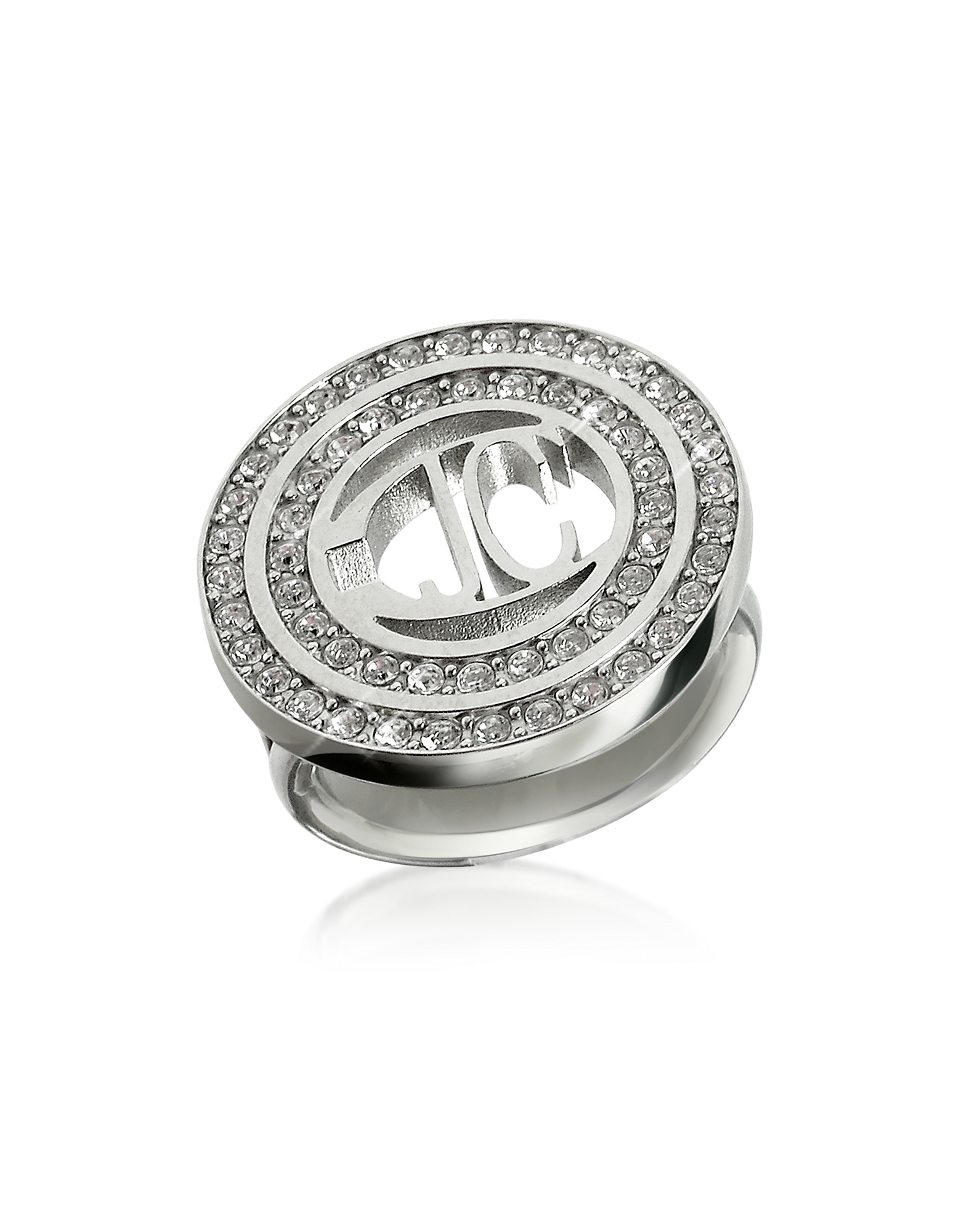 Image of Just Cavalli Designer Rings, Rolly - Crystal Logo Ring