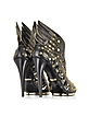 Angel Black Leather Studded Sandal - Roberto Cavalli