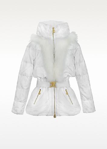 Gym - White Animal Print Quilted Jacket - Roberto Cavalli