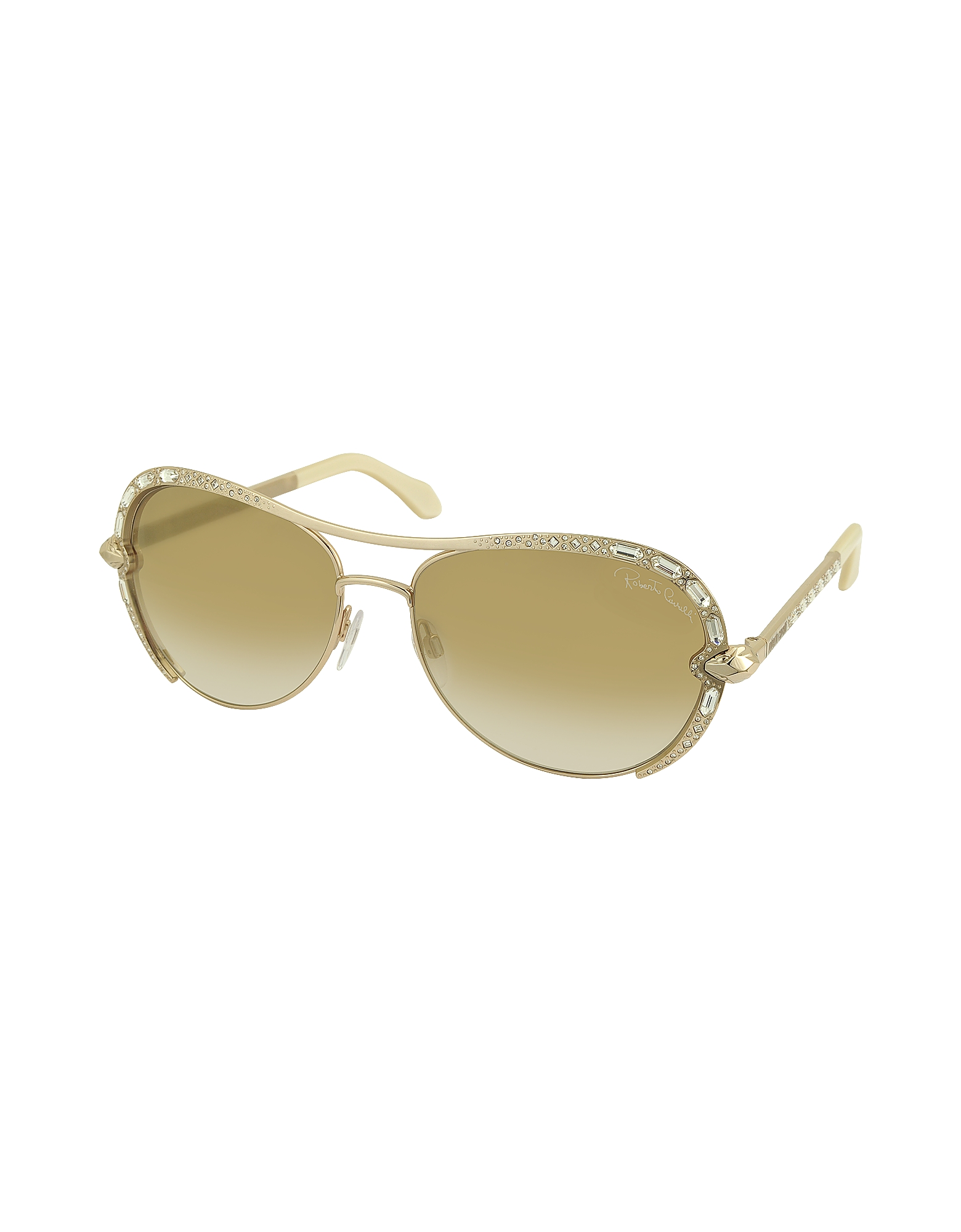 SULAPHAT 975S Gold Metal Aviator Women's Sunglases w/Crystals от Forzieri INT