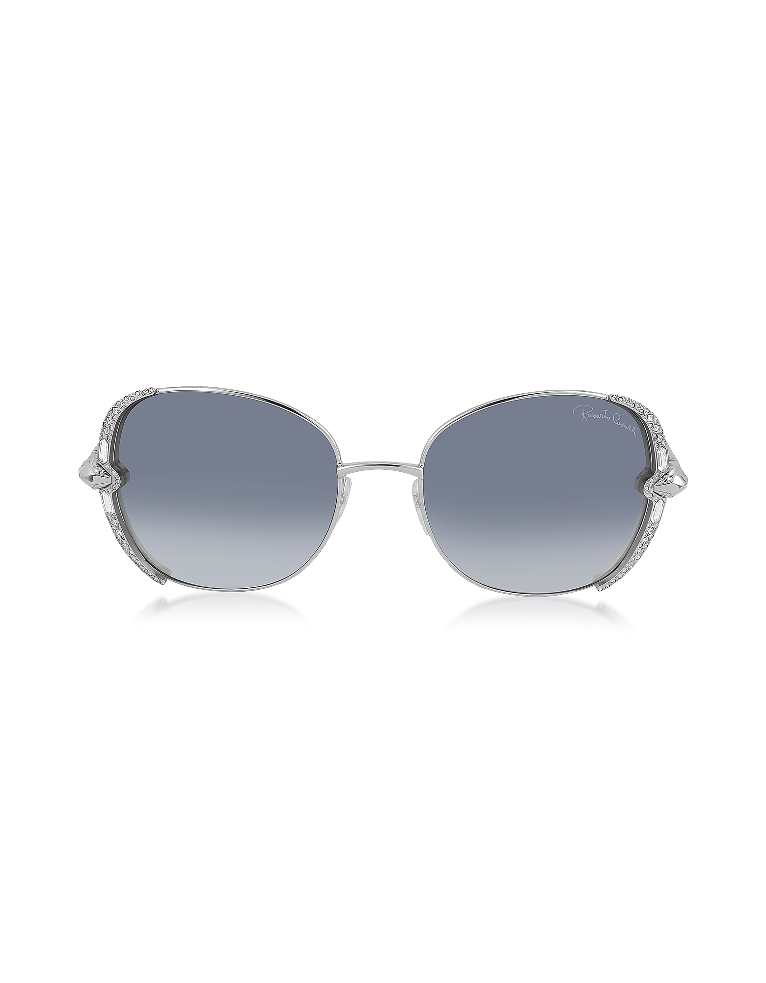 Roberto Cavalli SUBRA 974S - Большие Женские Солнечные Очки в Квадратной Оправе с Кристаллами