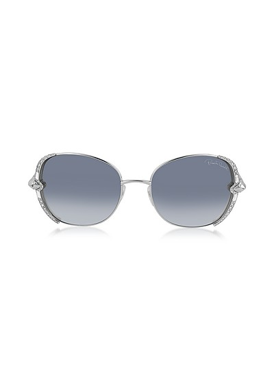 SUBRA 974S Metal Square Oversized Women's Sunglasses w/Crystals - Roberto Cavalli